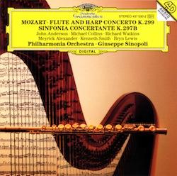 MOZART flute harp